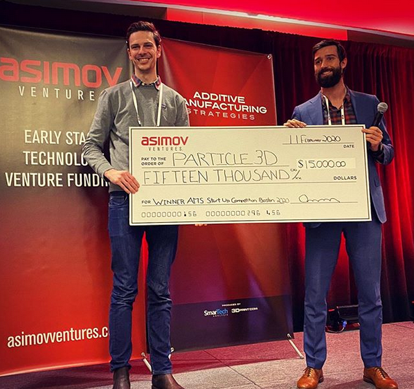 Particle3D Wins AMS Startup Competition, Boston, 2020